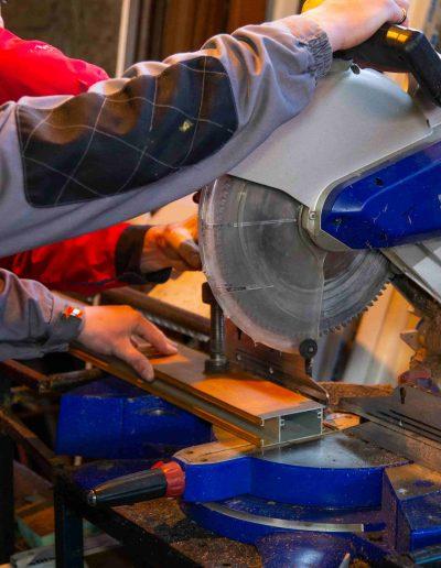 Tâmplărie aluminiu maro | Poză din atelier 6 | Termopane Galați