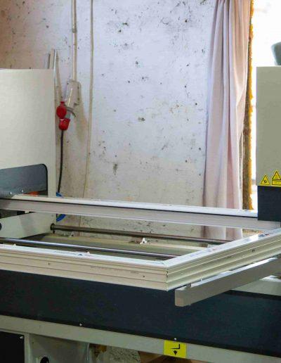 Tâmplărie PVC alb | Poză din atelier 4 | Termopane Galați