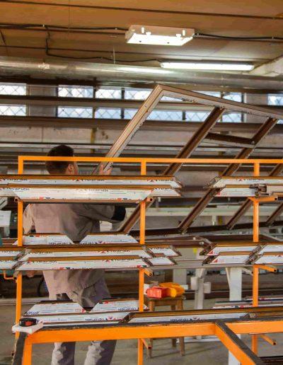 Tâmplărie PVC maro | Poză din atelier 9 | Termopane Galați